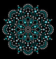 dot art mandala traditional aboriginal vector image