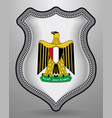 egypt coat arms badge and icon vertical vector image vector image