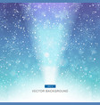 falling snow on blue and purple background vector image vector image