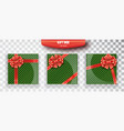 gift box set of green christmas gift boxes vector image