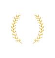 gold laurel or olive branch element greek vector image