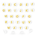 golden letters a to z in white paper circle and sh vector image