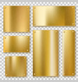golden plates gold metallic yellow plate shiny vector image
