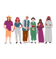 group diverse multi-ethnic people standing vector image