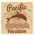 grunge vintage summer travel vacation vector image vector image
