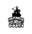 halloween design with typography and white vector image vector image