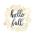 hand drawn wreath with fall vector image vector image