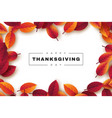 happy thanksgiving holiday design with bright vector image vector image