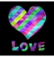 Heart and Love text vector image