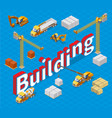isometric industrial building concept vector image