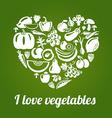 LoveVeg vector image vector image