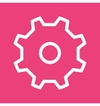 Machine gear vector image vector image