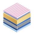 mattress component icon isometric style