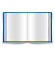Open book with blank pages vector image vector image