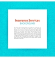 Paper Template Insurance Line Background vector image vector image