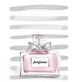 perfume bottle with bow female vector image