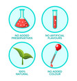 preservatives free natural product vector image vector image