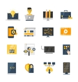 Program Development Flat Icon Set vector image vector image
