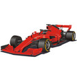 racing car in the formula 1 red car on vector image