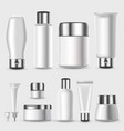 realistic blank cosmetic packages set vector image vector image