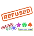 Refused Rubber Stamp vector image vector image