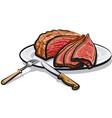 roast beef meat vector image vector image