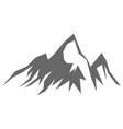 rock mountain silhouette vector image vector image