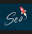 rocket seo vector image vector image
