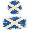 Scottish round and square grunge flags vector image vector image