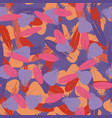seamless colorful multicolor pattern with feathers vector image