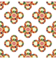 Seamless geometric pattern flowers vector image
