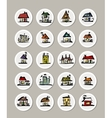 set icons with houses for your design vector image vector image