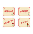 set of labels as gift tag for present flower vector image vector image