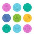 spa salon linear icons set vector image vector image