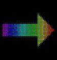 spectrum pixel right arrow icon vector image vector image