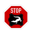 Stop crocodile leather vector image