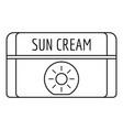 sun cream icon outline style vector image vector image