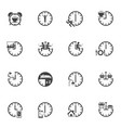 time icon set daily routine vector image