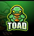toad mascot esport logo design vector image vector image