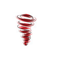 tornado symbol vector image vector image