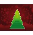 tree green label vector image vector image
