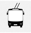 trolleybus icon vector image vector image