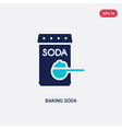 two color baking soda icon from cleaning concept