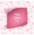 valentines day card background with seamless heart vector image
