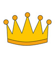 winner crown isolated icon vector image