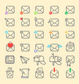 email envelope cover outline icons vector image