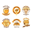 Honey labels and beekeeping logo vector image