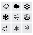 snow icon set vector image