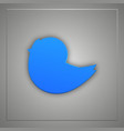 blue bird flat icon with shadow vector image