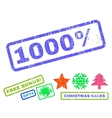 1000 Percent Rubber Stamp vector image vector image